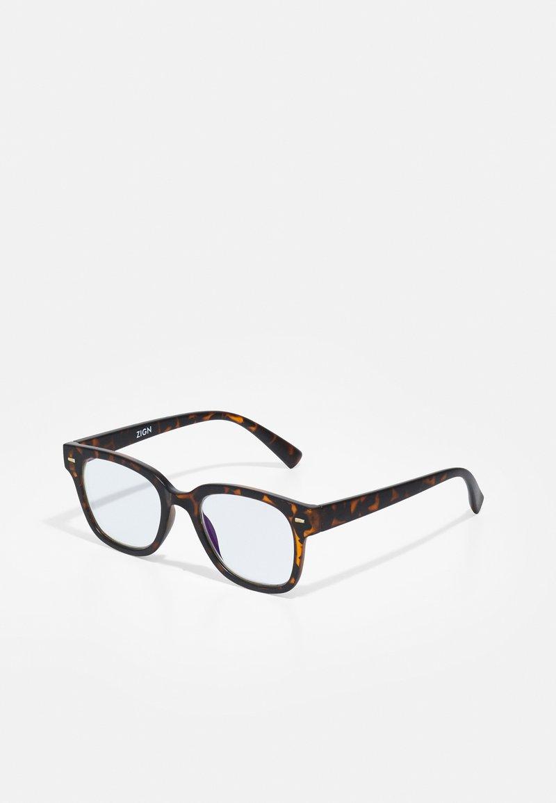 Zign - UNISEX - Blue light glasses - brown