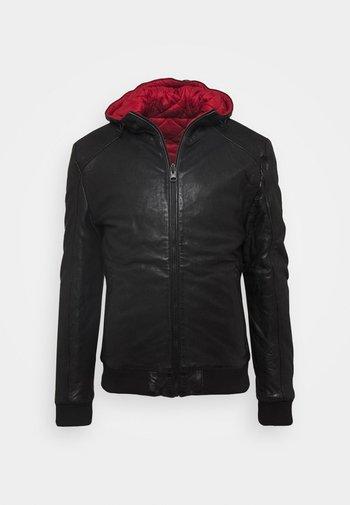 GRAYDON - Leather jacket - black