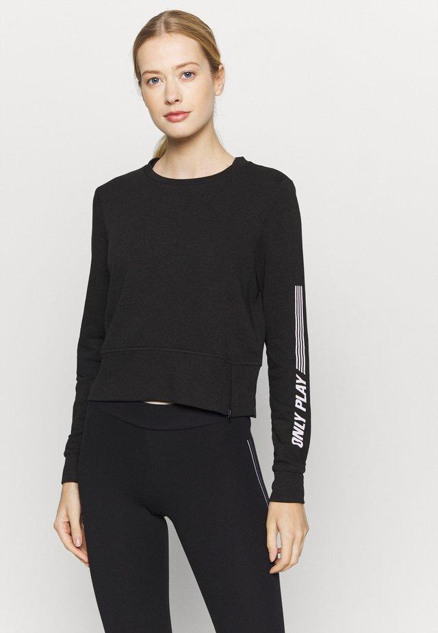 ONPSHELLY O NECK ZIP - Sweatshirt - black