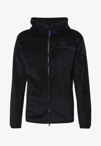 adidas Performance - ADIDAS Z.N.E. FULL-ZIP VELOUR HOODIE - Zip-up hoodie - black - 8