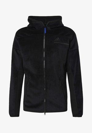 ADIDAS Z.N.E. FULL-ZIP VELOUR HOODIE - Zip-up hoodie - black