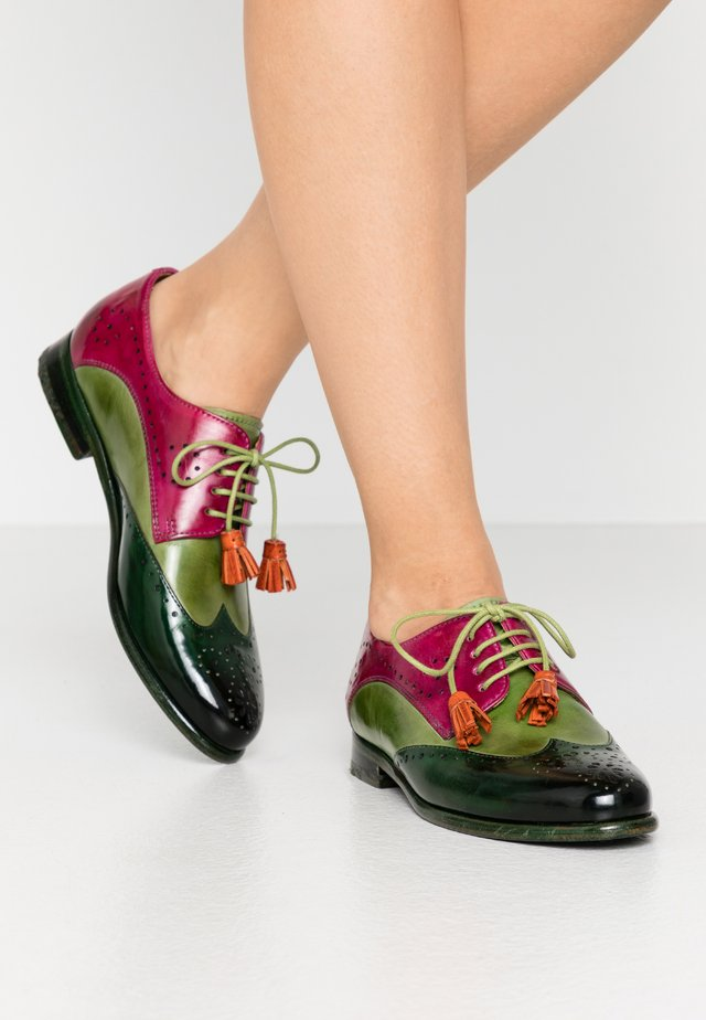 SELINA  - Zapatos de vestir - dark forest/new grass/dark pink