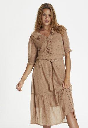 Korte jurk - praline dot
