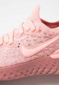 Nike Performance - EPIC REACT FLYKNIT 2 - Juoksukenkä/neutraalit - pink tint/rust pink/celestial gold/black - 5