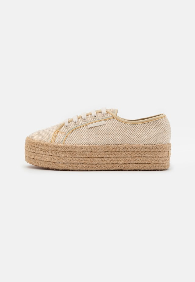 2790 - Espadrilles - natural/lightt blue/orange