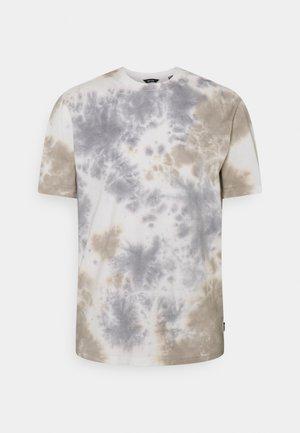 ONSLOU TIE DYE TEE - T-shirt imprimé - chinchilla