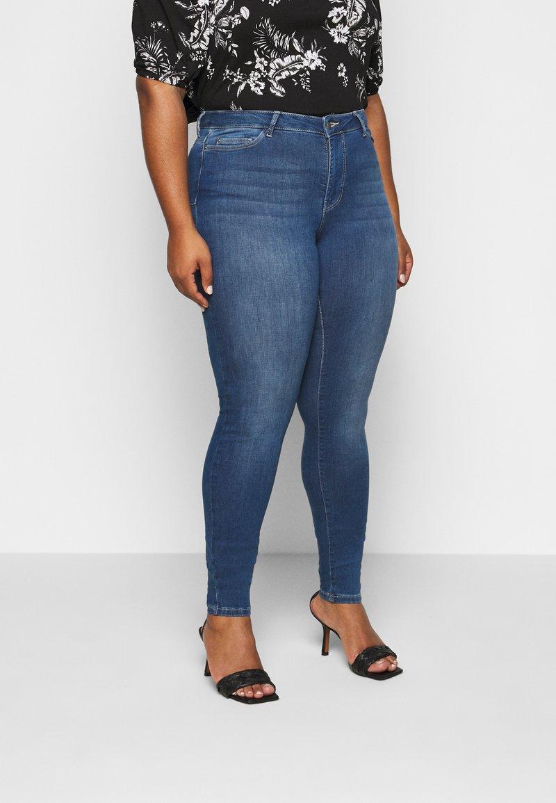 JUNAROSE - by VERO MODA - JRFOUR - Slim fit jeans - medium blue denim