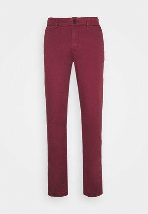 SLHSTRAIGHT NEWPARIS FLEX PANTS  - Chino kalhoty - tawny port