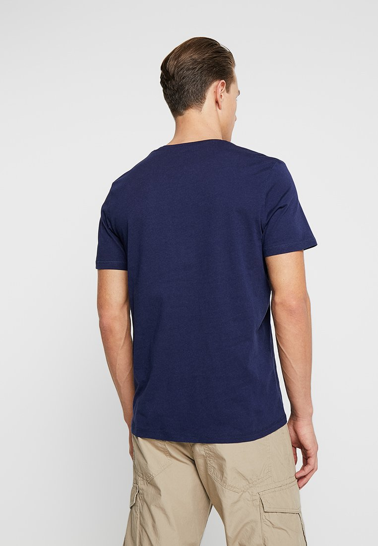 TOM TAILOR Print T-shirt - true dark blue eHD9I