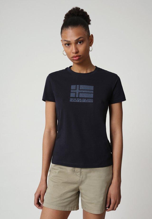 SEOLL - Print T-shirt - blu marine