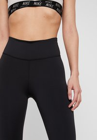 Nike Performance - ONE CROP - Legginsy - black/white - 3