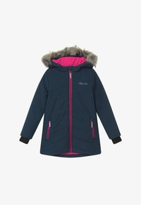 TrollKids - GIRLS LIFJELL JACKET - Winter coat - navy melange/magenta - 3