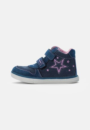 LEATHER BOOTIES - High-top trainers - dark blue