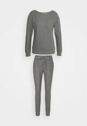 PANT BRUSHED SET - Nattøj sæt - mid grey
