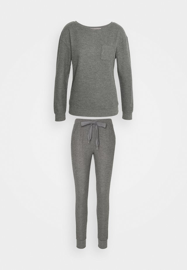PANT BRUSHED SET - Pyjama - mid grey