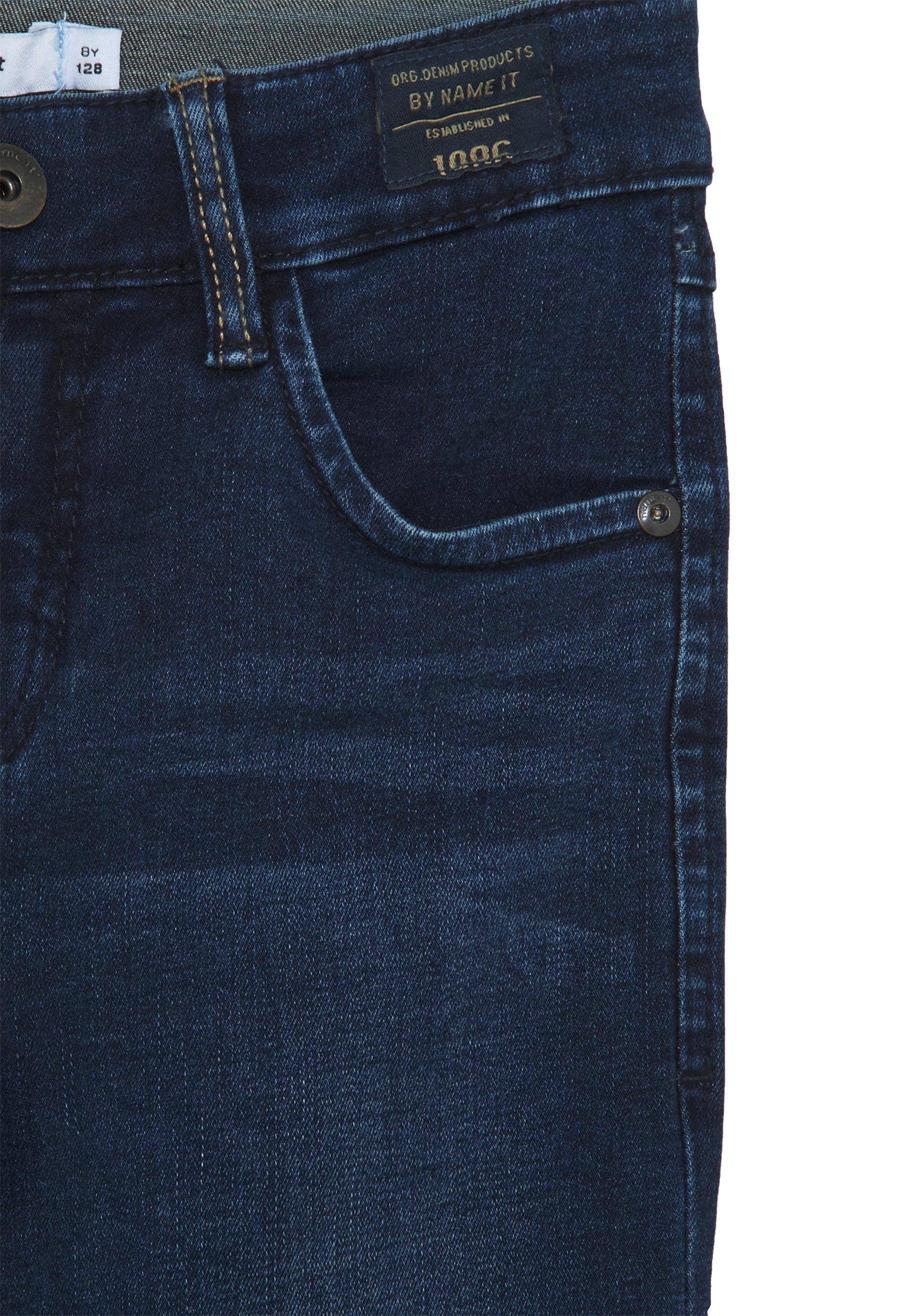 NKMSILAS TOGO 86 PANT Jeans Straight Leg dark blue denim