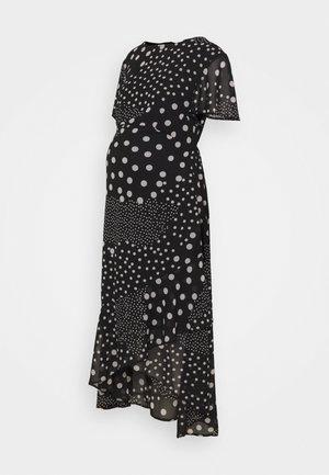 MATERNITY HI LO HEM SPOT DRESS - Jersey dress - black