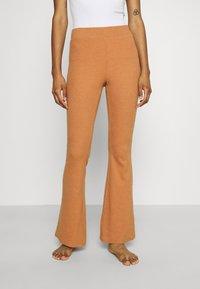 aerie - RIBBED FLARE PANT - Spodnji del pižame - hazel - 0