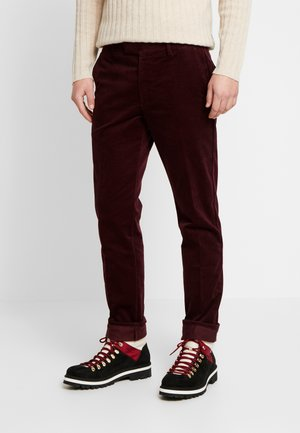 SCOTT - Tygbyxor - burgundy red