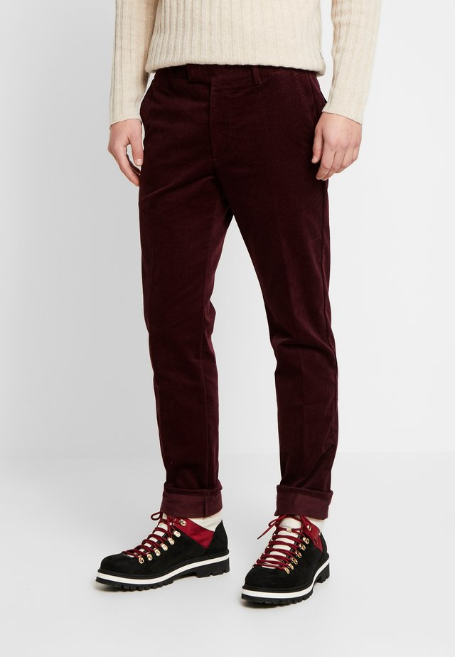 SCOTT - Broek - burgundy red
