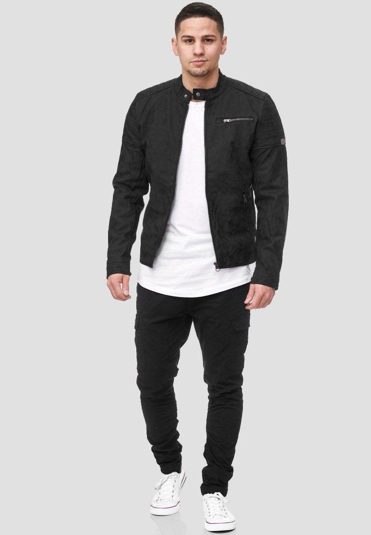 INDICODE JEANS MANUEL - Veste en cuir - black