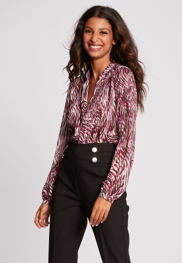 LONG-SLEEVED - Button-down blouse - mottled pink