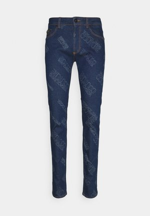 HARRY LASER LOGO - Džíny Slim Fit - light-blue denim