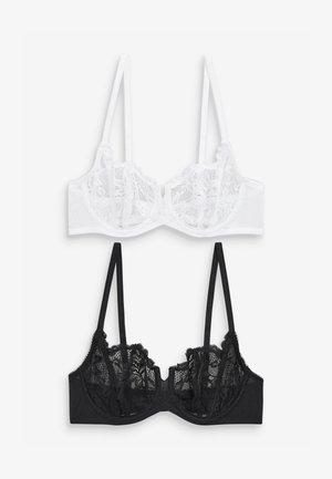 TWO PACK - Underwired bra - black
