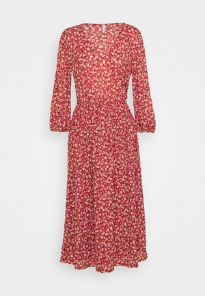 ONLPELLA 3/4 V NECK DRESS  - Robe d'été - red