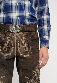 Krüger Dirndl - Leather trousers - dunkelbraun - 5