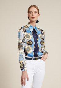 Luisa Spagnoli - Button-down blouse - var blu/celeste/blu - 2