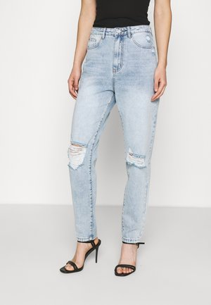 RIOT BUSTED KNEE MOM JEAN - Relaxed fit jeans - light blue