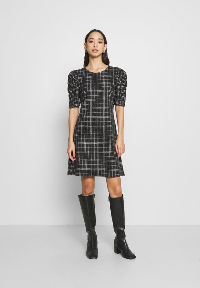 ONLALBA SHORT DRESS  - Day dress - dark grey melange/white