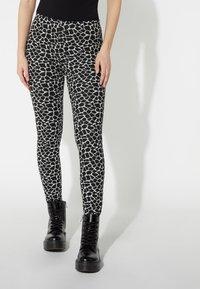 Tezenis - Leggings - Trousers - nero st.little giraffe - 0