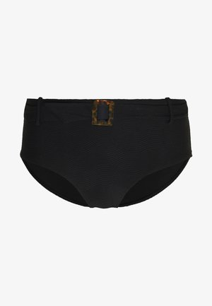 CAPRI SEA WIDE SIDE RETRO - Bikini bottoms - black