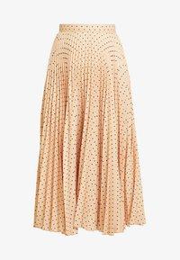 Closet - PLEATED MIDI SKIRT - A-line skirt - apricot - 3