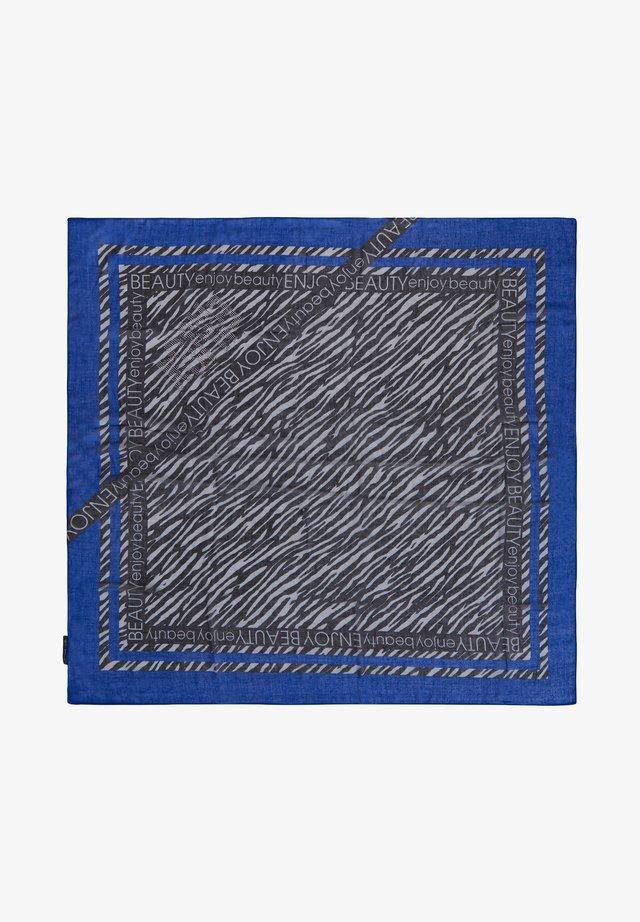 TUCH MIT PRINT - Scarf - blue black