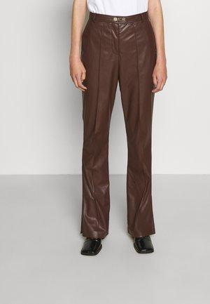 TEDDY VEGAN PANTS - Bukse - brown