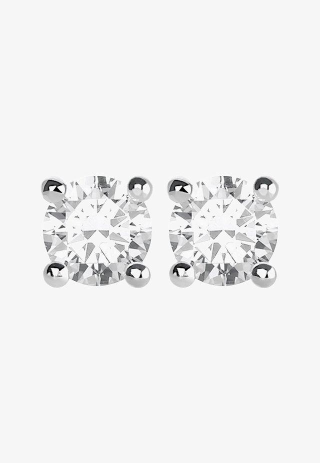 Earrings - silver-coloured/white