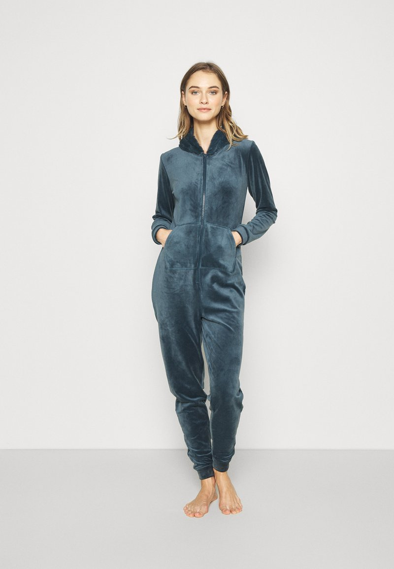 Hunkemöller - ONESIE SLIM - Pyjamas - dark teal
