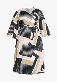 Kaffe Curve - KCVERONICA WRAP DRESS - Vapaa-ajan mekko - light pink - 3