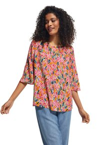comma casual identity - Blouse - apricot flower - 0
