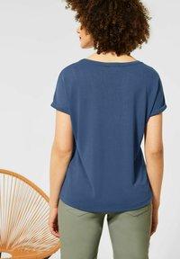 Street One - IM SEIDEN LOOK - Basic T-shirt - blau - 2