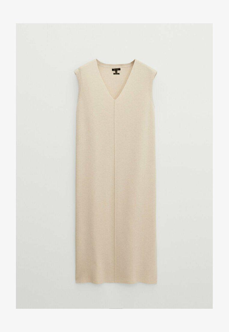 Massimo Dutti - Jumper dress - beige