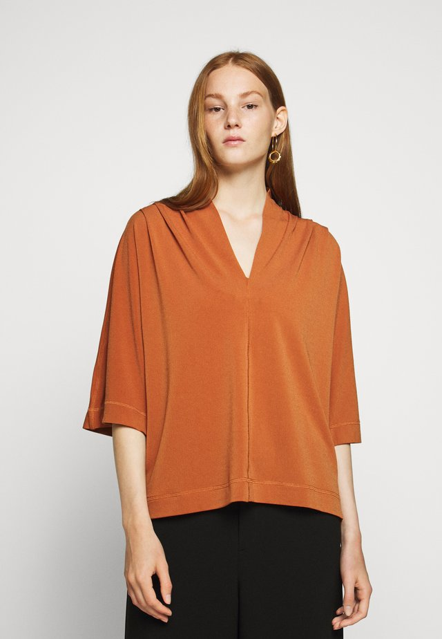 BIJANA - Long sleeved top - brick