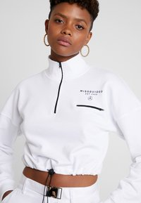 Missguided - BRANDED CROPPED SWEAT - Sweatshirt - white - 4