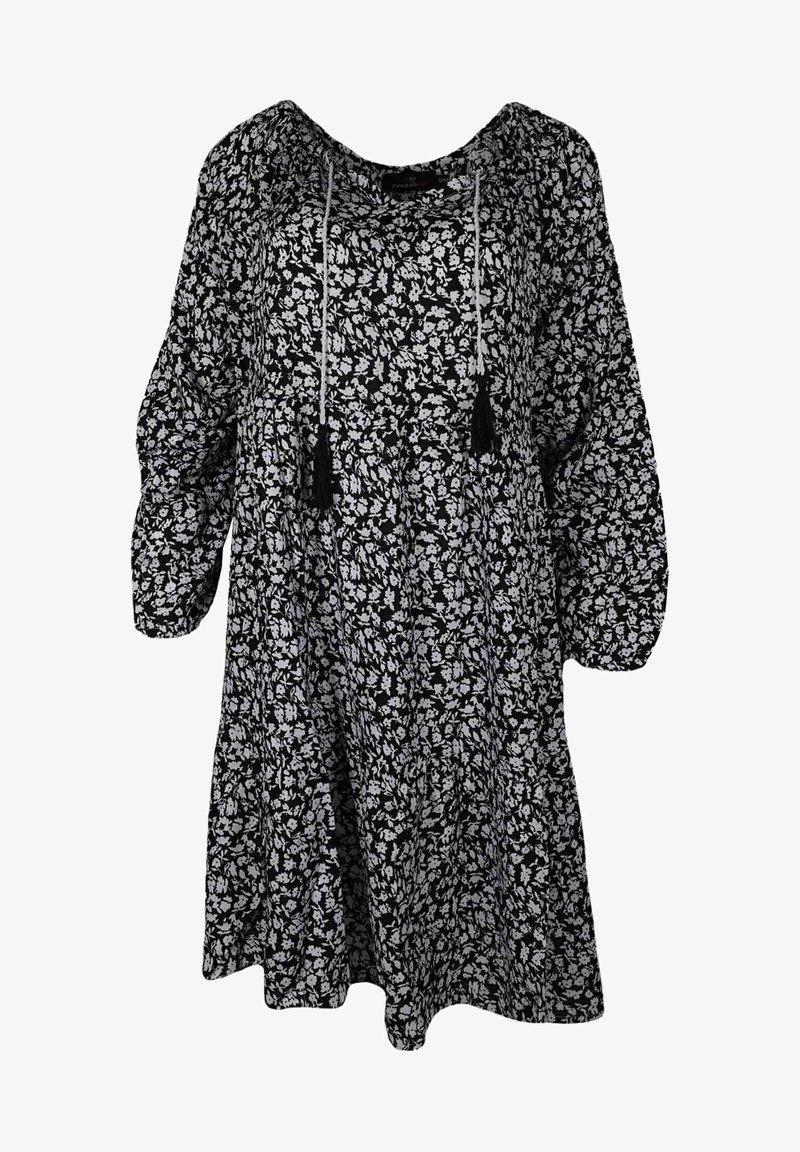 Zwillingsherz - SENTA - Day dress - schwarz/weiß