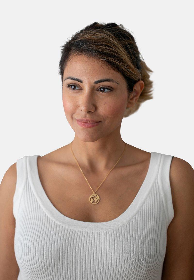Heideman - WELTKUGEL GLOBUS - Necklace - gold-coloured