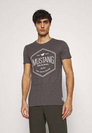 AARON - Print T-shirt - dark grey