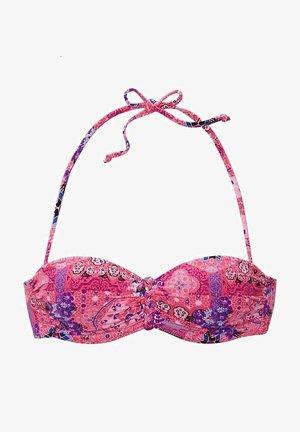 Bikini top - rosa-bedruckt